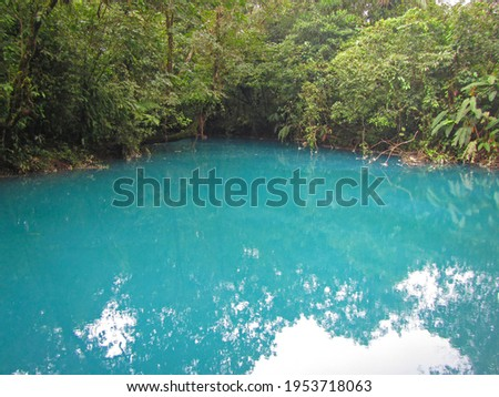 Blue lagoon, río Celeste, Volcán Tenorio national park, Costa Rica Foto d'archivio ©