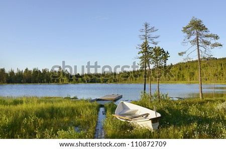 Blue Lake. Northern Finland