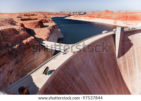 Blue Lake Orange Glen Canyon Dam Arizona