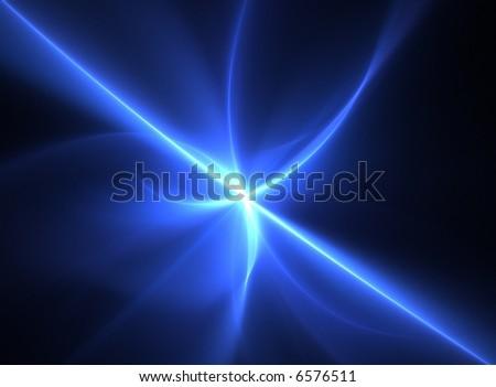 Blue laserbeam