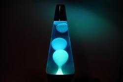 Blue lava lamp shadows lighting