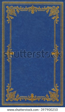 Blue leather book cover #397900210