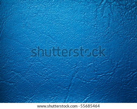 Blue leatherette texture sample color for design