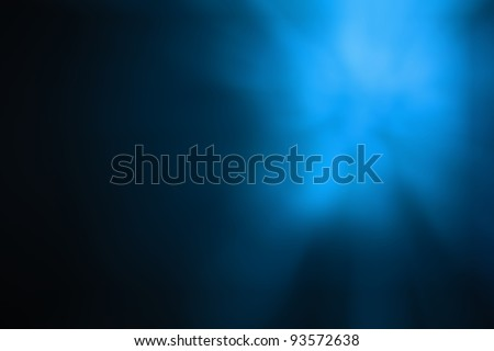 Blue light abstract