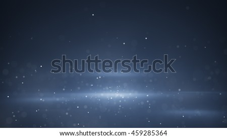 Shutterstock Blue light beams and blurred particles. Computer generated abstract background