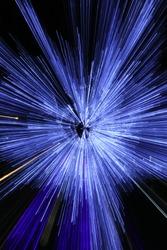 Blue Light Explotion in Christmas