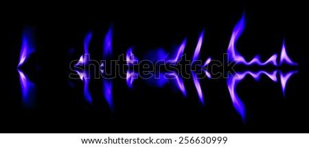 Blue light fire graphic smoke background #256630999