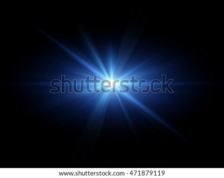 Blue light flare special effect  #471879119
