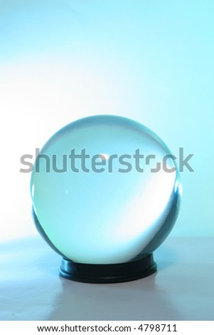 Blue light in a crystal ball