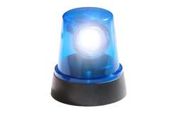 Blue light isolated on white background