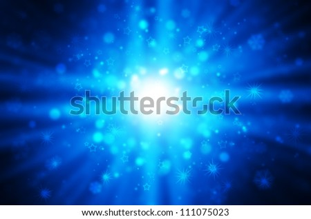 blue light with star background