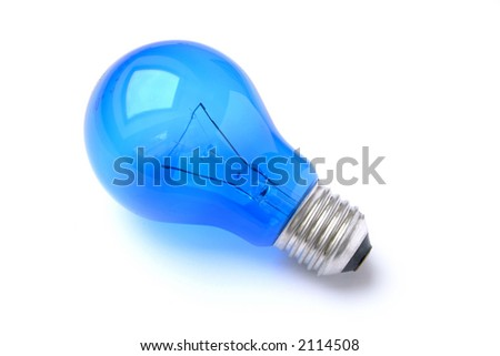 Blue Lightbulb isolated