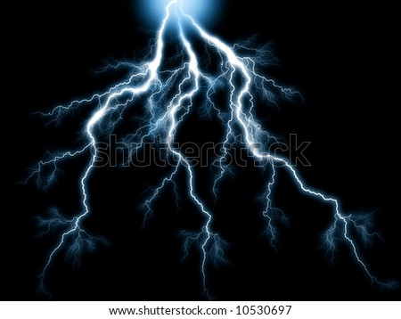 blue lightning bolts