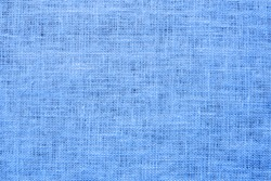 Blue linen background Weaving Canvas Fabric Texture background. or Natural azure cloth surface .