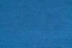 blue linen textile - close up of fashion background classic blue - Trend color of the year 2020