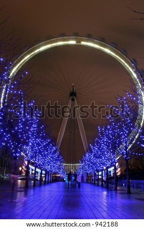 Blue London Eye, England