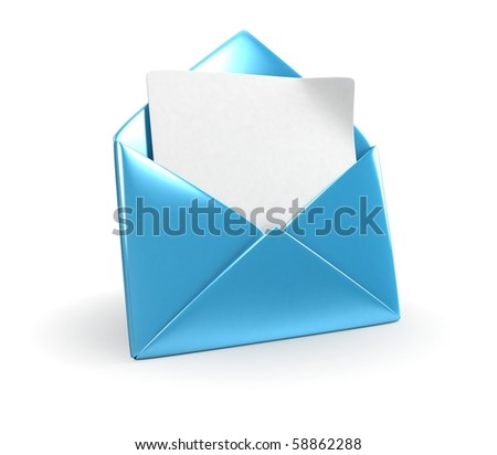 Blue Mail Envelope - stock photo