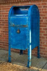 Blue Mailbox - Angle Right