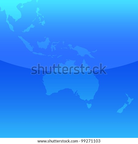 Blue map of Australia