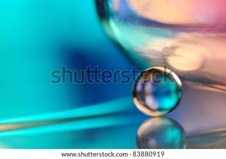 blue marble and glass