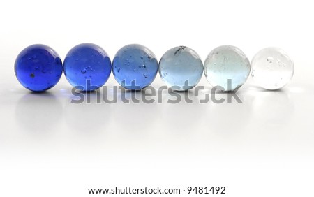 Blue Marbles Gradient Row