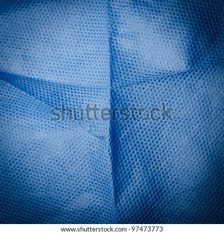 blue medical nonwoven fabric cloth ditail texture