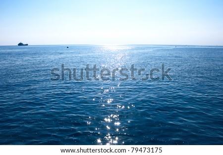 Blue Mediterranean sea in morning. #79473175