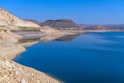 Blue Mesa - An Autumn view of Blue Mesa Reservoir in Curecanti National Recreation Area, Gunnison, Colorado, USA.