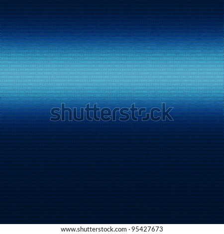 blue metal background with binary texture abstract background