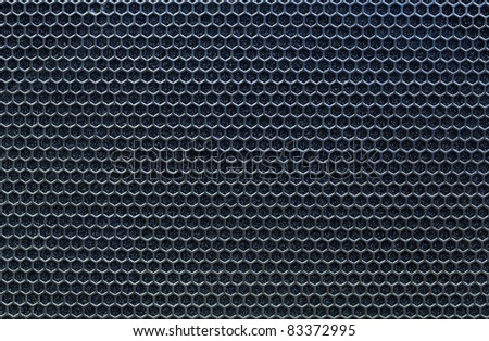 blue metal grate background