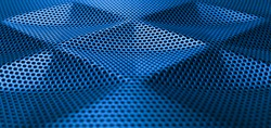 Blue metal grid wicker texture,Steel texture, Pattern of dots,Protective grating surface.