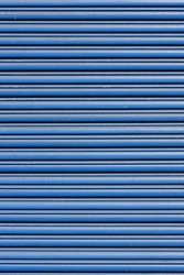 blue metal roller shutter door