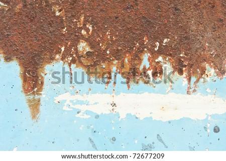 blue metallic rust half