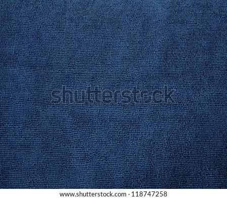 Blue Microfiber texture - stock photo