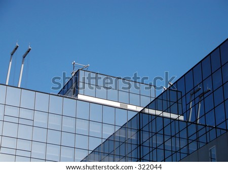 Blue modern architectural structures in Kyoto  Station,Japan