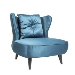 Blue Modern sofa chair isolated on white background