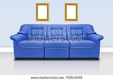 Blue modern sofa  for office, home or hotel