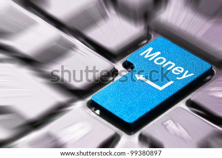 Blue money button on the keyboard