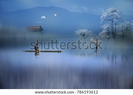 Blue mood in a dreamland