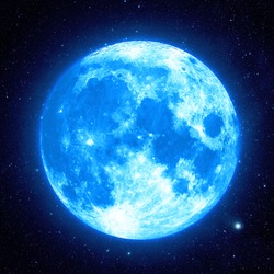 Blue Moon - Elements of this Image Furnished by NASA