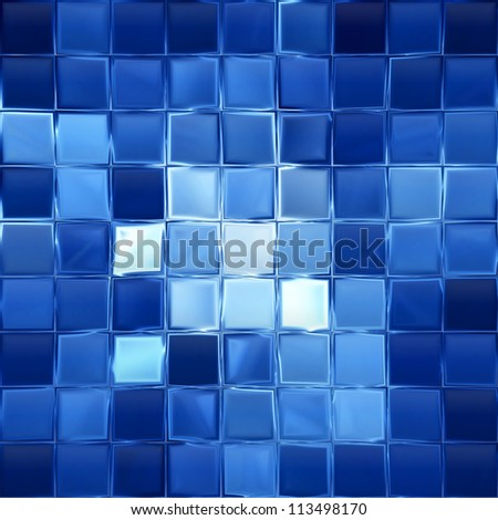 Blue mosaic background - stock photo