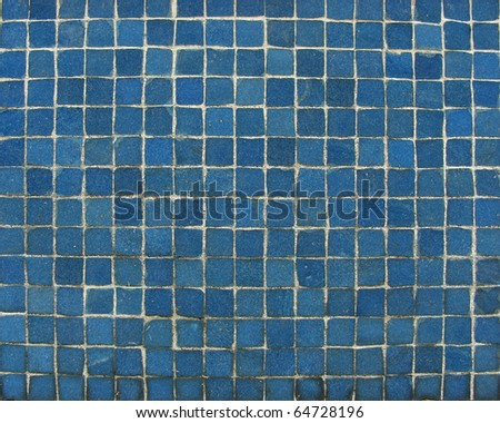 blue mosaic tiles on a wall
