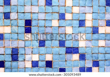 Blue Mosaic Tiles Zexture Background