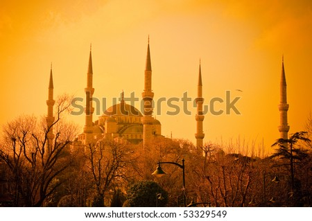 Blue Mosque at sunset, Istambul