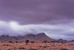 Blue Mountain Shrouded in Cloudy Mystery - Davis Mountains - Fort Davis Texas