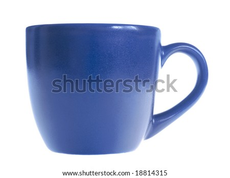 blue mug - stock photo