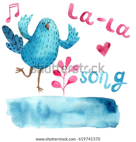 Blue Musical Bird