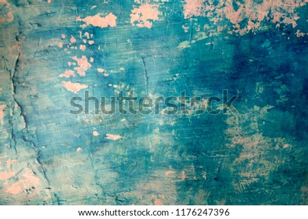 Blue Navy Blue Dark Abstract Background Grunge Decorative Stucco Wall of Art Rough. Texture Banner With Space Text. #1176247396