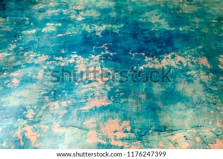 Blue Navy Blue Dark Abstract Background Grunge Decorative Stucco Wall of Art Rough. Texture Banner With Space Text. #1176247399