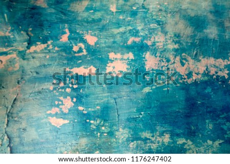 Blue Navy Blue Dark Abstract Background Grunge Decorative Stucco Wall of Art Rough. Texture Banner With Space Text. #1176247402